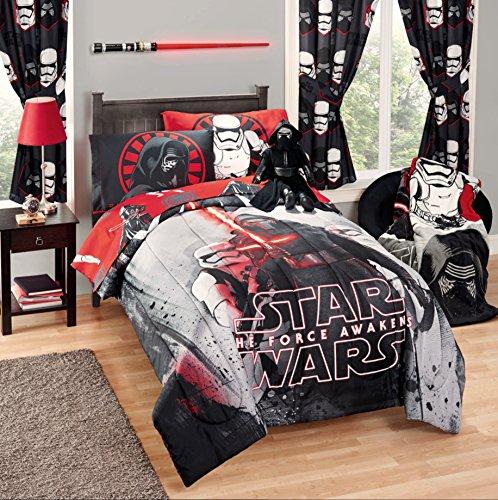 Disney Star Wars 5 Piece Kids Bed in a Bag Full Bedding Set - Reversible Comforter Sheets Pillow Cases
