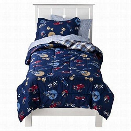 Circo Full Bed in a Bag Vintage Cars Boys Comforter Set Sheets Shams Blue 7 pc