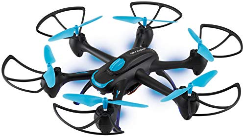 Sky Rider Night Hawk Hexacopter Drone with Wi-Fi Camera and Voice Control Includes Remote Control Phone Holder USB Cable and 6 Replacement Rotors DRW557BU