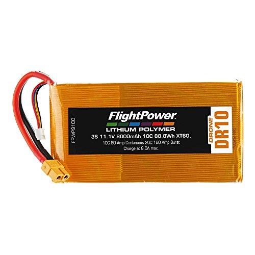 FLIGHTPOWER Lipo Drone 3S 111V 8000Mah 10C XT60 Plug