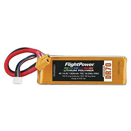 FLIGHTPOWER Lipo Drone 4S 148V 1300Mah 70C XT60 Plug