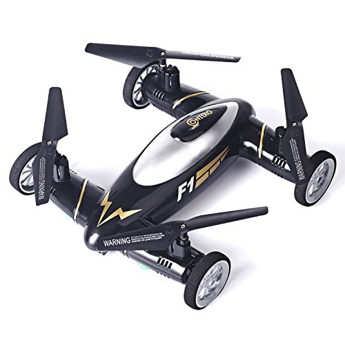 Contixo Kids Drone F1 Black RC Quadcopter Flying Car Bonus Battery Easy Stunts 4 Channel Drone RC 24GHz 6 Axis Gyro RC Quadcopter