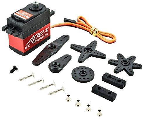 Apex RC Products 6600MG Metal GearCase Digital Standard Servo - 110-18 Steering Servo
