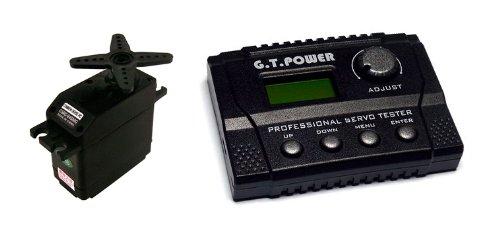 Bundle 1 CSRC-645MG Ultra Torque Metal Gear Servo  1 GT Power Digital Professional Servo Tester