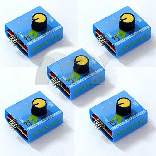 Eztronics Corp5 PCS ESC  Servo tester 3 Channels CCPM Meter Checker 48-6V