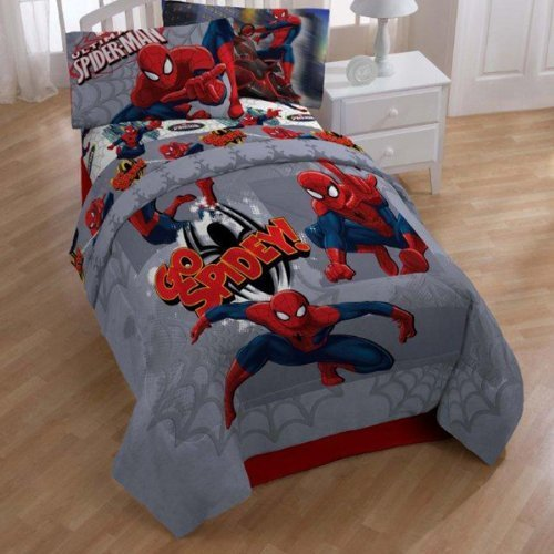 Marvel Ultimate Spiderman Go Spidey Twin Size Comforter