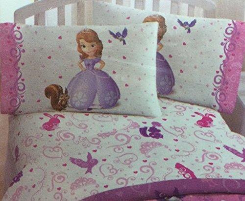 Disneys Sofia the 1st Sweet Princess Sheet Set Twin ItemShape Twin Sheet Set Model JF22511 Toys Play