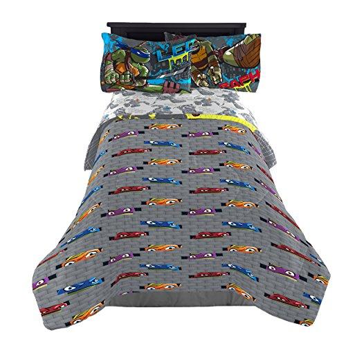 Nickelodeon Teenage Mutant Ninja Turtles Cross Hatching Soft Microfiber Full 4Piece Sheet Set