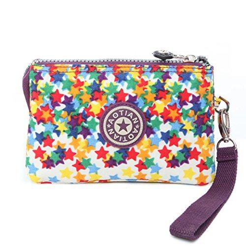 Outtop Fashion Girl Women Canvas Purse Wallet Small Bag Coin Purse Multicolor