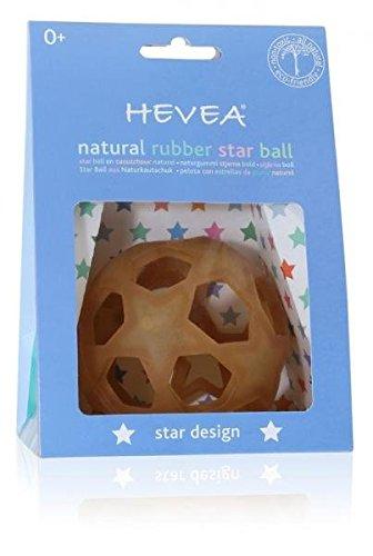 Hevea Natural Rubber Sensory Ball Star - BPA Phthalates PVC Free