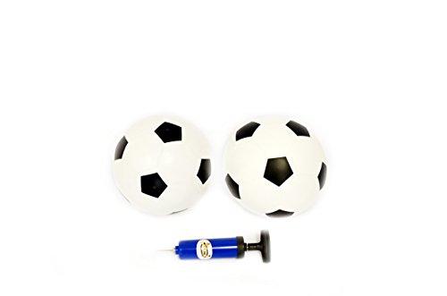 Le Petit Sports - Soccer Rubber Balls Size 4 SET of 2  Pump whiteblack