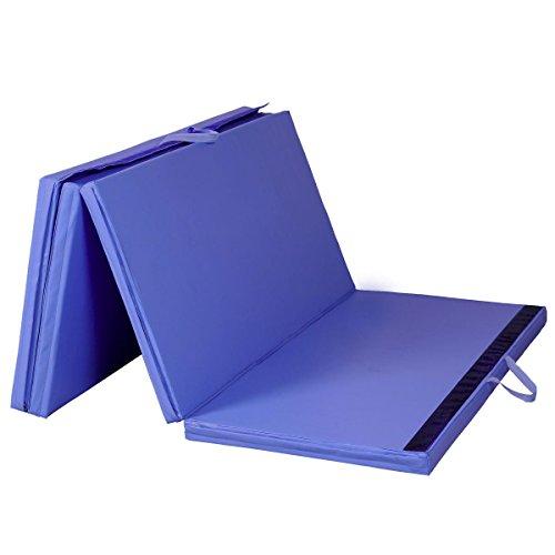Goplus Blue 4x8x2 Folding Panel Gymnastics Mat Gym Fitness Exercise Mat
