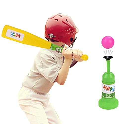 Arshiner Semi-Automatic Launcher Kids Baseball Set With 3 Different Color BallsBaseball Training Set