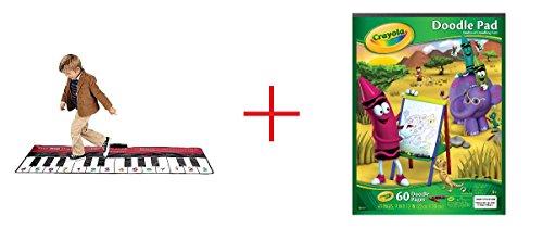 FAO Schwarz Big Piano Dance Mat and Crayola Doodle Pad - Bundle