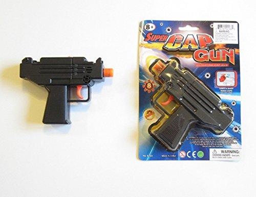 1 NEW UZI HANDGUN TOY CAP GUN 55 POLICE PISTOL DETECTIVE FIRES 8 RING CAPS