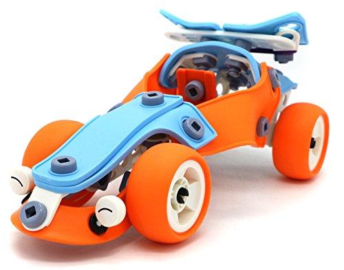 Creative Build Play Sports Car - Original building flexible sheet 101 parts assembling model toy set for 5 aged kids