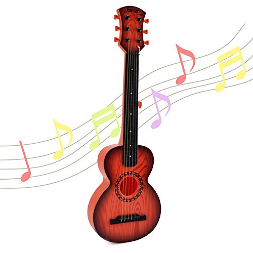 Happytime Kids Emulational Guitar Musical Toys Guitar with 6 Strings Musical Instruments Educational Toys for Kids Children Adults