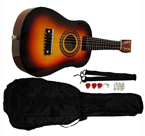 Mini Kids Acoustic Toy Guitar Kit Gig Bag  Picks  Strap  Tuner Sunburst