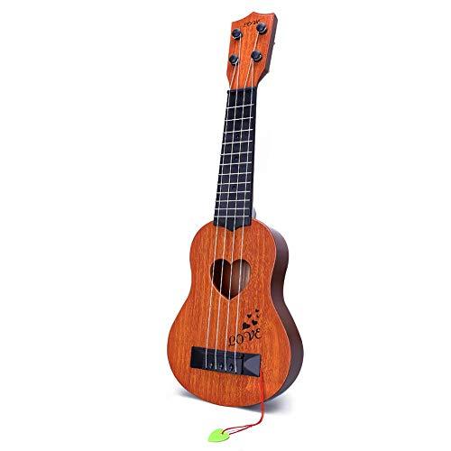YEZI Kids Toy Classical Ukulele Guitar Musical Instrument Brown