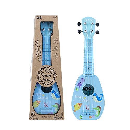 YOLOPLUS Kids Ukulele Guitar Toy Simulation 4 Strings Children Musical Instruments Educational Learning for Toddler Beginner Keep Tone Anti-Impact 17 Inch Blue