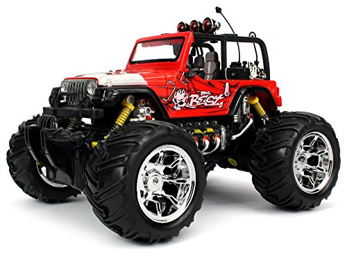 Velocity Toys Graffiti Jeep Wrangler Remote Control RC Truck 116 Scale Big Size Off Road Monster Truck Ready To Run High Quality Colors May Vary