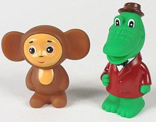 Gena The Crocodile and Cheburashka Bath Toy Set 5