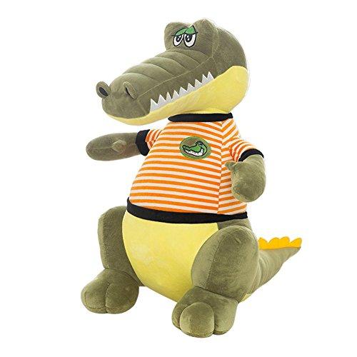 Jutao Plush PP Stuffed Animal Crocodile Toys Xmas Perfect Gift for Kids Orange 35cm