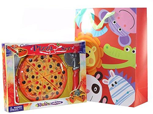 Childrens Pretend Play Kitchen Toy - Cutting Pizza Set