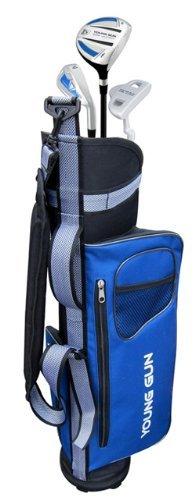 Young Gun EAGLE BLUE Junior golf club set bag for kids Ages 6-8 RH