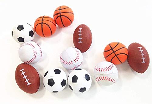 Dazzling Toys Mini Sports Balls Set of 12 Sports Balls for Kids - Soccer Ball Basketball Football Tennis Ball 1 Dozen