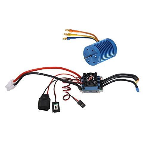 SkyQ Racing 60A ESC Brushless Speed Controller  10T 3900KV Motor for 110 112 RC Car