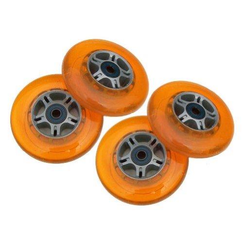 Kick Push 4 Replacement Wheels  ABEC-7 Bearings for Razor Pro Kick Scooter Orange 100mm