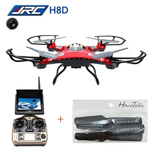 Hometalks JJRC H8D RC Quadcopter Helicopter Drone with Transmitter FPV Monitor Real Time Transport Video Headless Mode 58G 2MP HD Cameraextra 1 set propellers