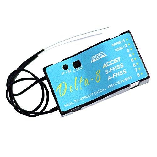FrSky Delta 8 24Ghz 8CH Multi-Brand Receiver D8V8 Futaba S-FHSSFHSS Hitec AFHSS Compatible