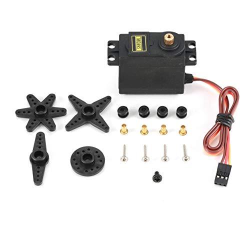 Detectorcatty MG995 Analog Servo Metal Gear Servo 55g High Speed Torque Digital Servo Motor for RC Car Robot HelicopterControl Angle 180