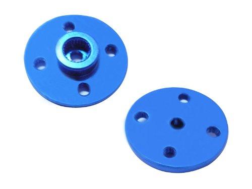 Hobbypower CNC 25t Metal Circle Servo Arm Horn for Jr Tp Hd Servo Mg995 Mg996r BluePack of 2 Pcs