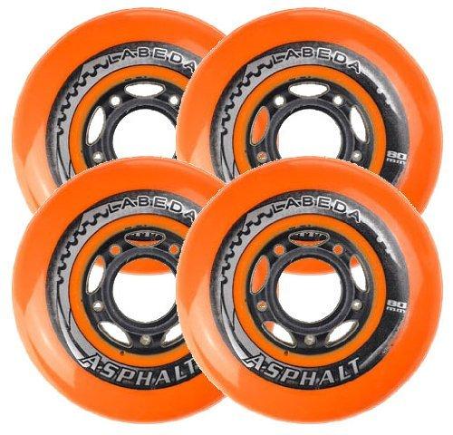 Labeda Asphalt Wheels 4 Pack Color Orange-Black Size 72mm Model DECK