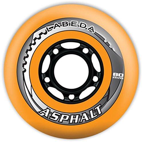 Labeda Asphalt Wheels 4 Pack Color Orange-Black Size 76mm Model DECK