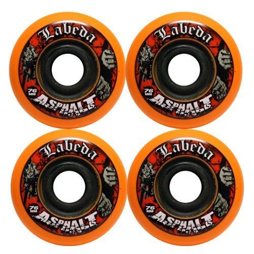Labeda Asphalt Wheels 4 Pack Size 76mm Color Orange-Black Model DECK Toys Play