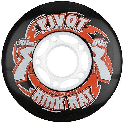 Rink Rat Pivot Asphalt 84A Inline Replacement Wheels 4-Pack Color Multicoloured Size 80MM Model