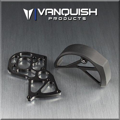 VANQUISH AXIAL SCX10 SCX10 2 RTR MOTOR MOUNT  GEAR GUARD BLACK VPS02200