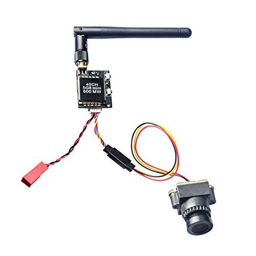 AKK 28MM 800TVL NTSC Switchable Camera with 40CH 600mW FPV Transmitter KC03