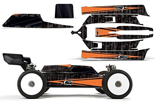 Designer Decal for Losi 8IGHT-E 30 TLR04002 AMRRACING RC Kit - Contender - OrangeBlack