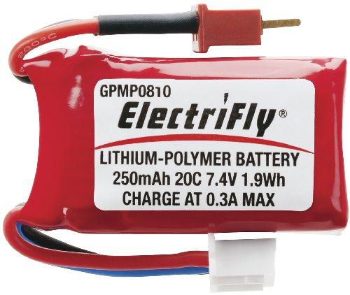 Great Planes LiPo 2S 74V 250mAh 20C ElectriFly
