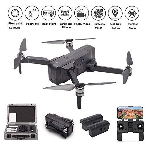 LOHOME SJRC F11 Drone GPS Drone 5G WiFi FPV RC Quadcopter 1080P Camera Record Video App Control Foldable Drone Follow Me One-Key RTH Track Flight Headless Brushless Motor 2 Battery 1 Portable Box