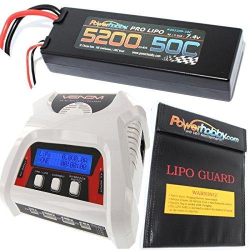PowerHobby 2S 74V 5200mAh 50C Lipo Battery Pack Traxxas Lipo Bag Charger