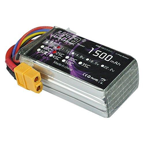 HRB 3S 111V 1500mAh 25C LiPo RC Battery Pack with XT60 Plug for RC Evader BX RC Car Skylark m4-fpv250 Mini Shredder 200 Qav250 Vortex Drone and FPV