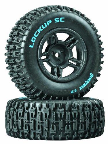 Duratrax Lockup SC Tire C2 Mntd Blk Slash Blitz SCRT10 2-Piece