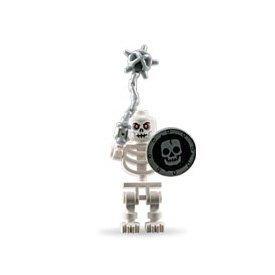 LEGO Skeleton Loose Castle Mini Figure with Flail and Shield