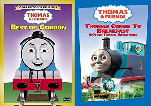 2 DVD Thomas Set - Thomas Friends Wooden Tank Train Engine - Brand New Loose